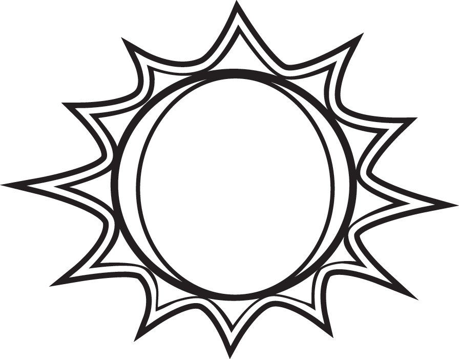 Sun Drawing Black White Sun Clipart Black And White