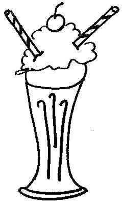 Milkshake Black White Pics Clipart Best