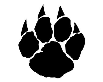 Wolf Paw Logo a Wolf Paw Print Colouring