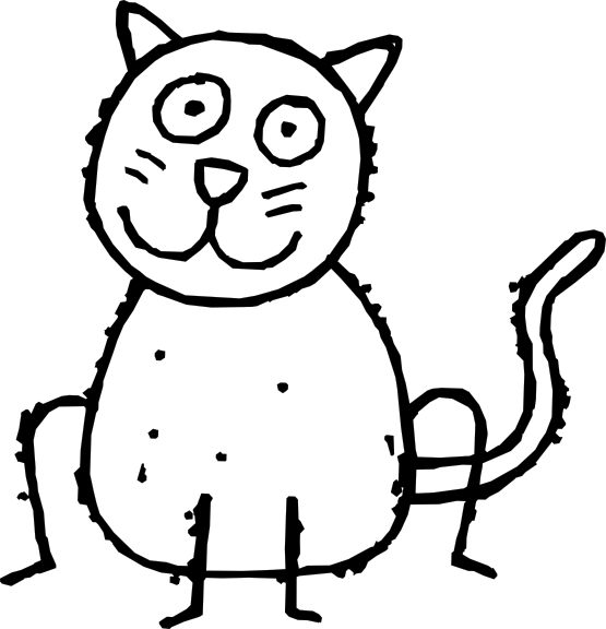 Cat Black And White Clipart - ClipArt Best