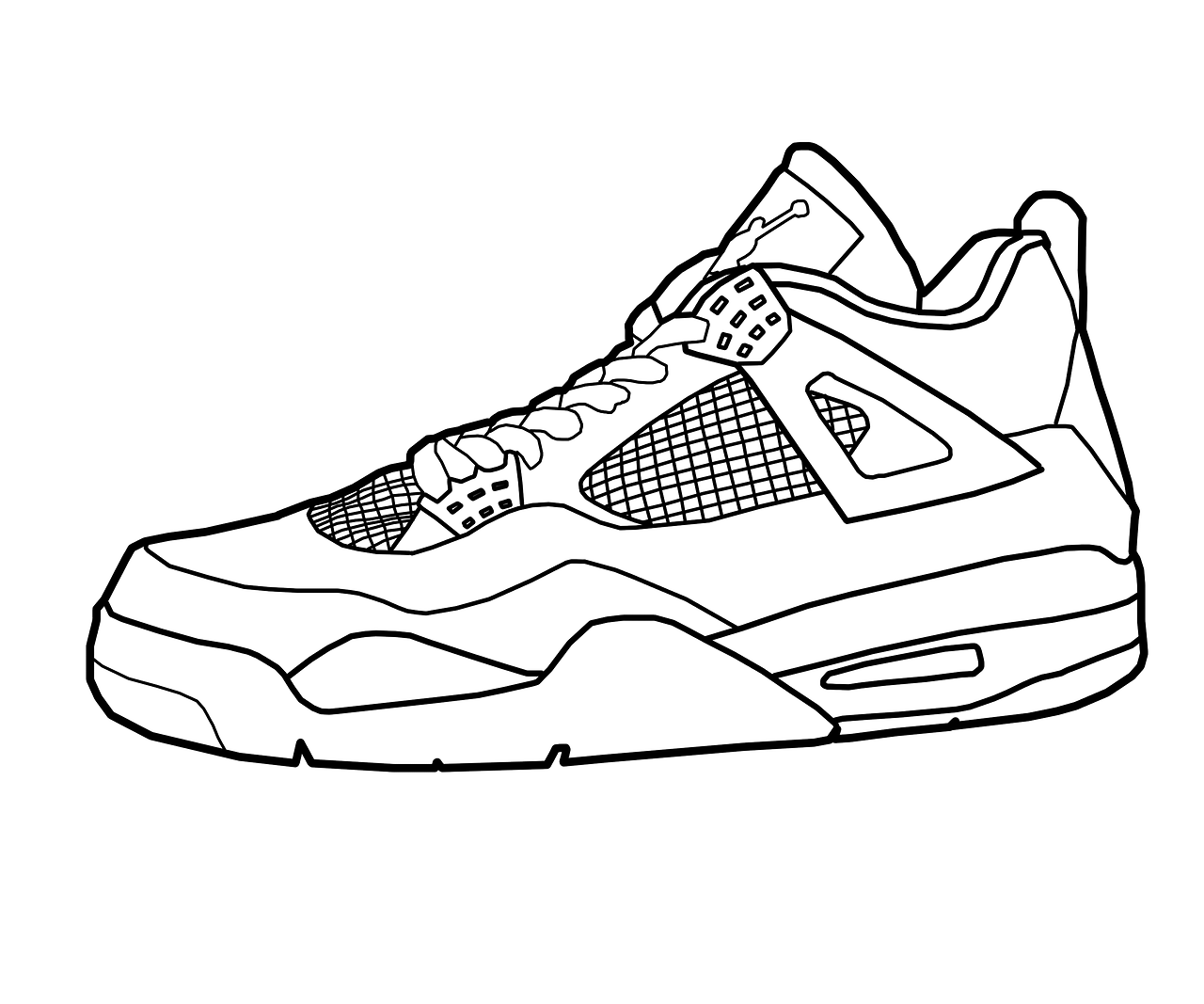 printable tennis shoe coloring pages - photo#14