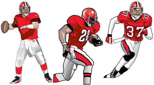 Running Nfl Football Players Drawings: Nfl Football Players Drawings