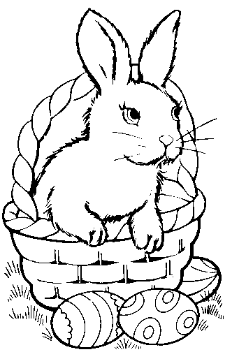 Line Art Easter Bunny : Easter line art clipart best