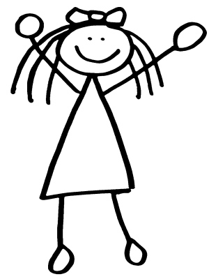 Girl Clipart Stick Figure - Free Clipart Images