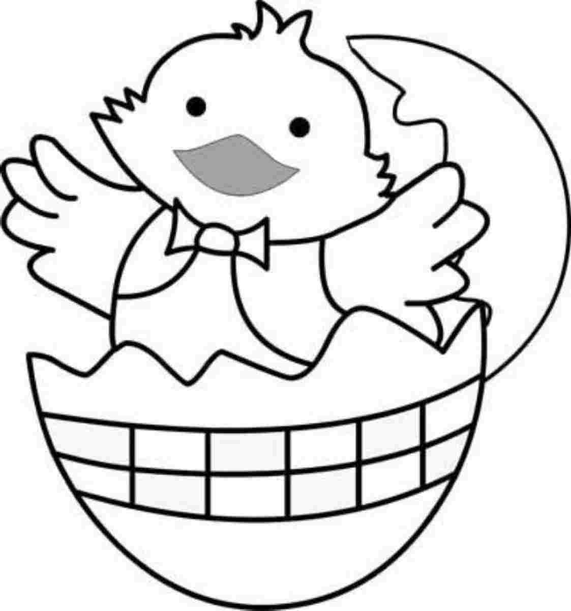 Free Easter Coloring Pages For Kindergarten : Easter chick colouring sheets printable for kindergarten