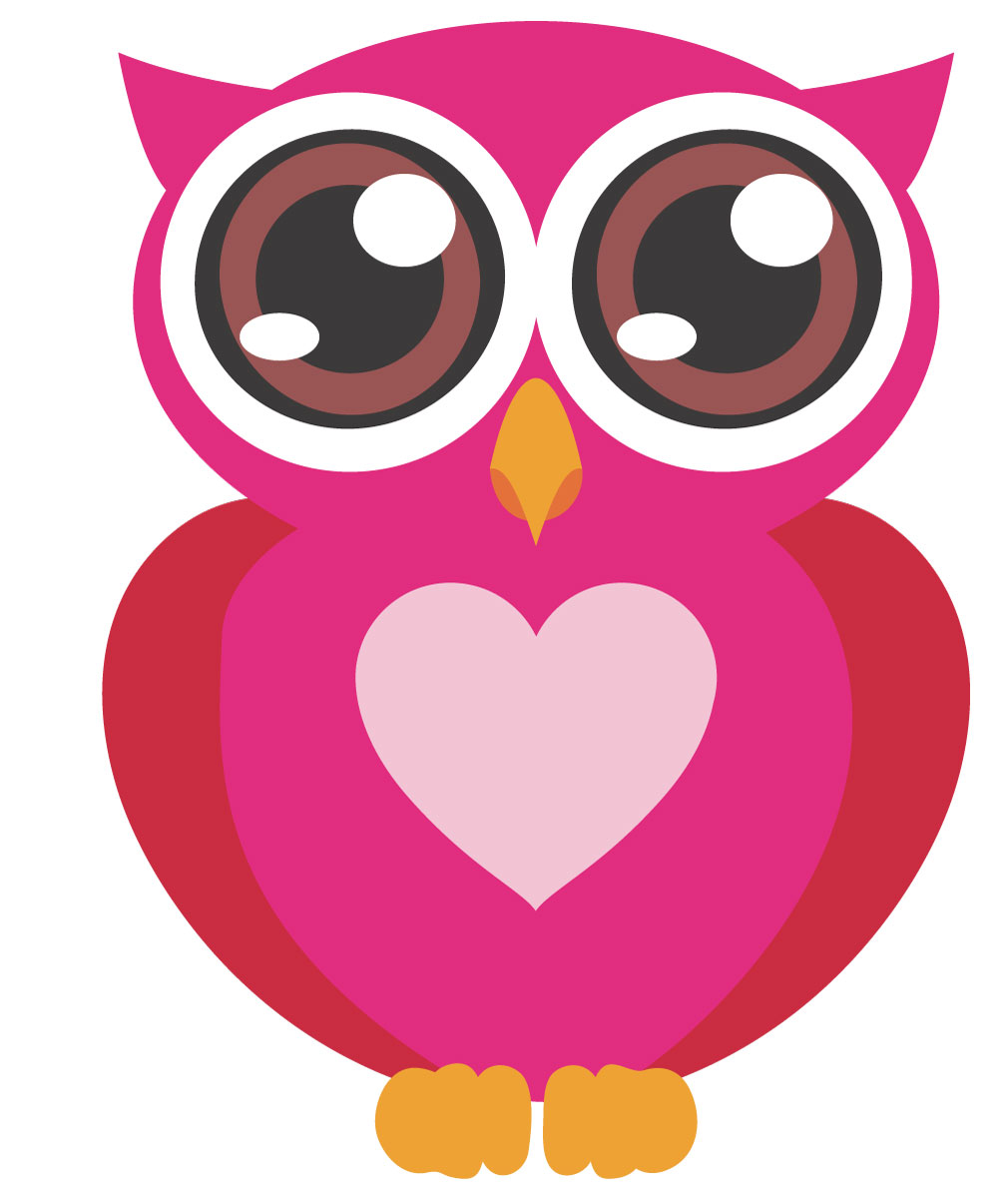 Cute owl pictures pink clipart best for A cartoon owl