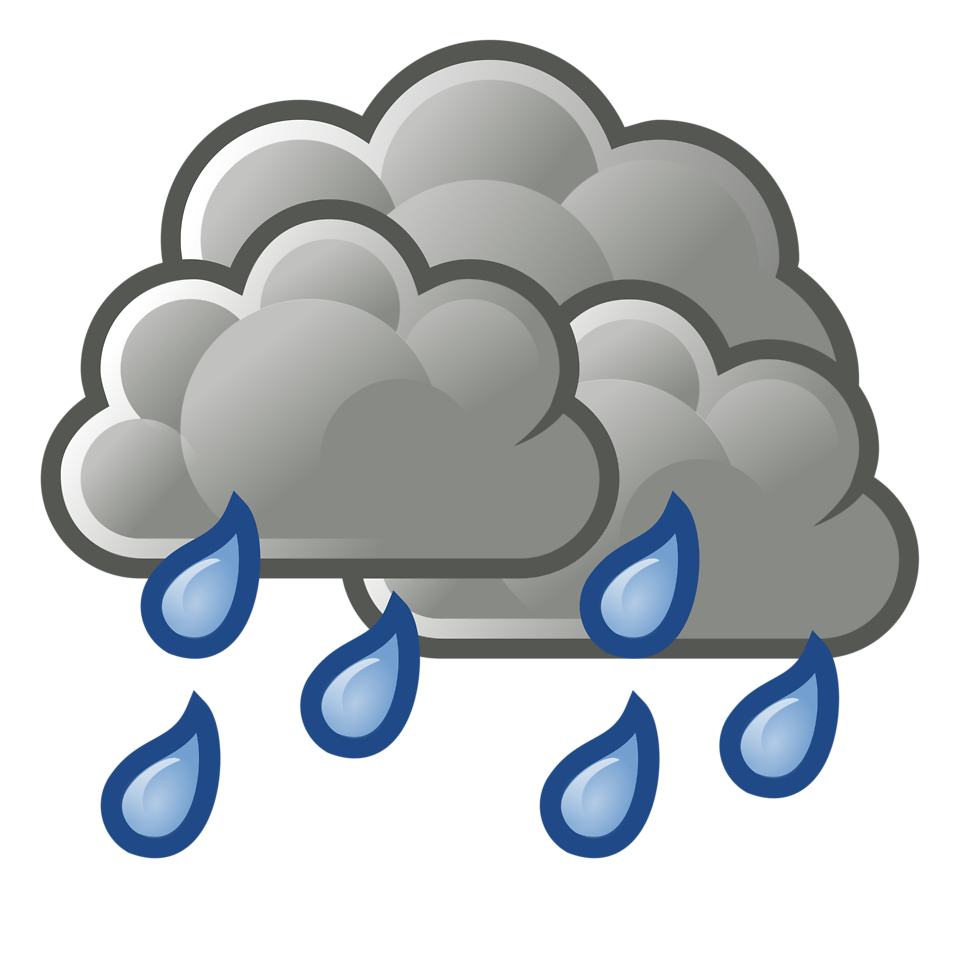 cloudy weather with drizzling in cartoons clipart best