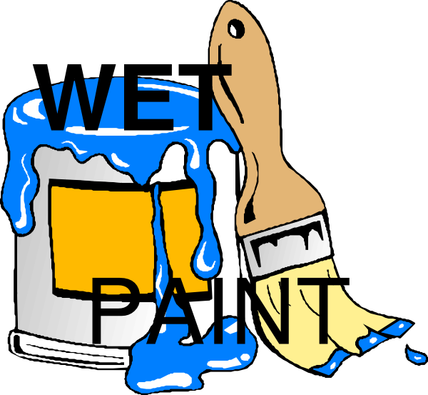 Free Wet Paint Sign Clip Art