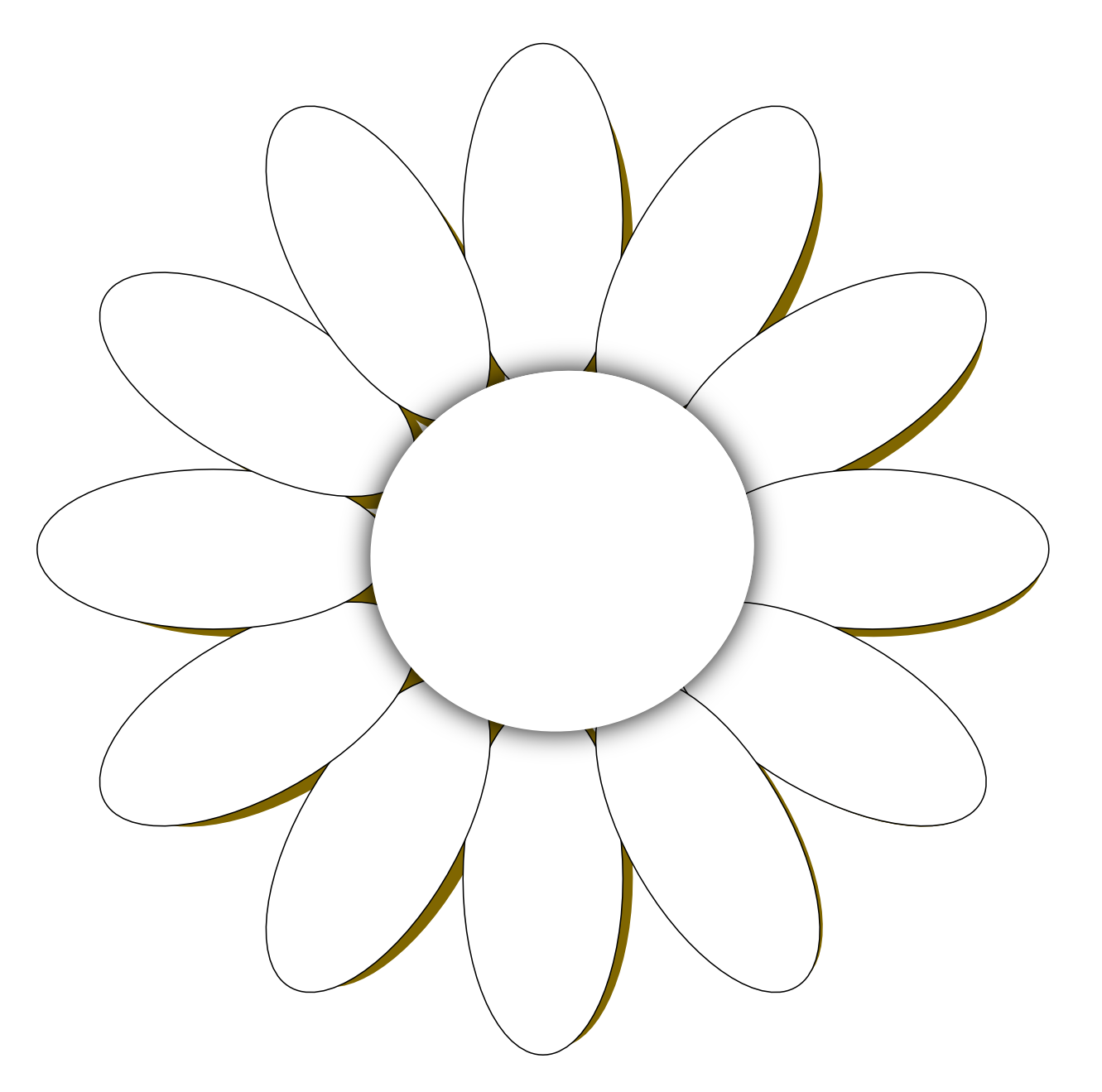 daisy flower 1 black white line art tattoo tatoo SVG ClipArt Best ClipArt