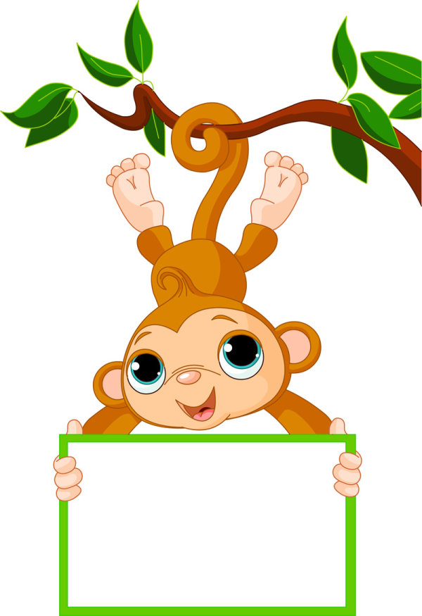 Cute Pictures Of Cartoon Monkeys - ClipArt Best