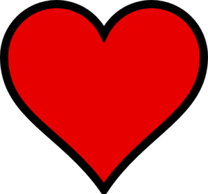 Red heart template clipart best for Full page heart template