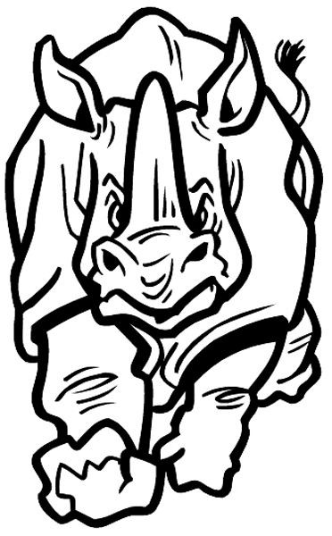 Line Drawing Rhino : Rhino outline drawing clipart best