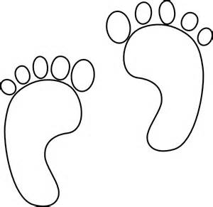 footprints coloring page - footprint coloring page clipart best