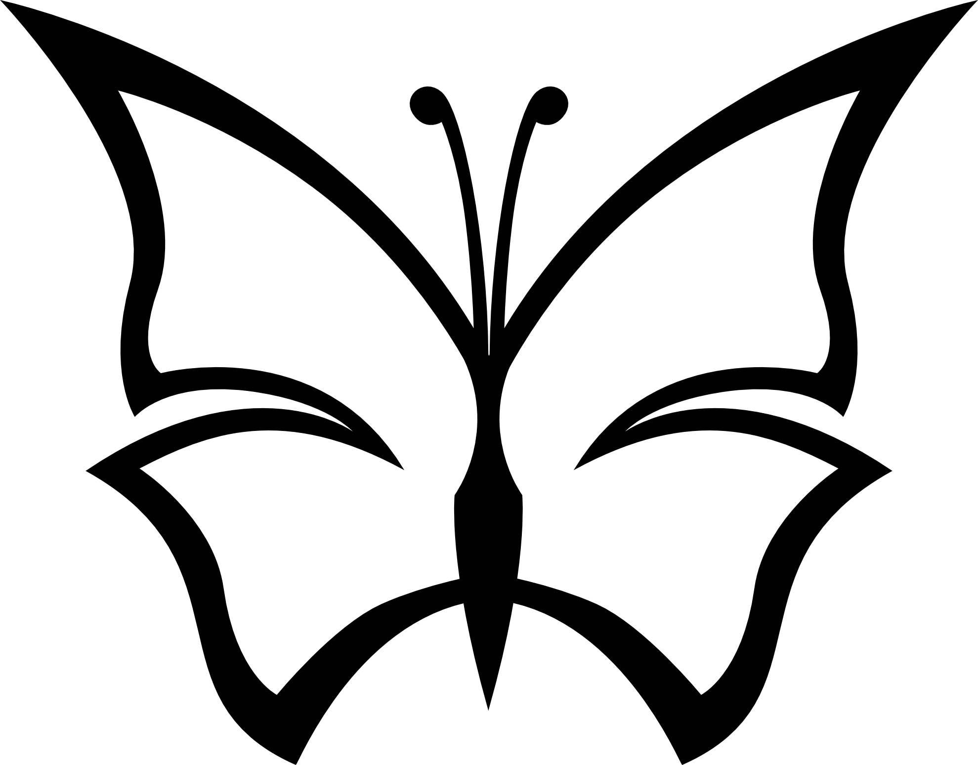 Simple Black And White Line Art : Butterfly line drawing clipart best