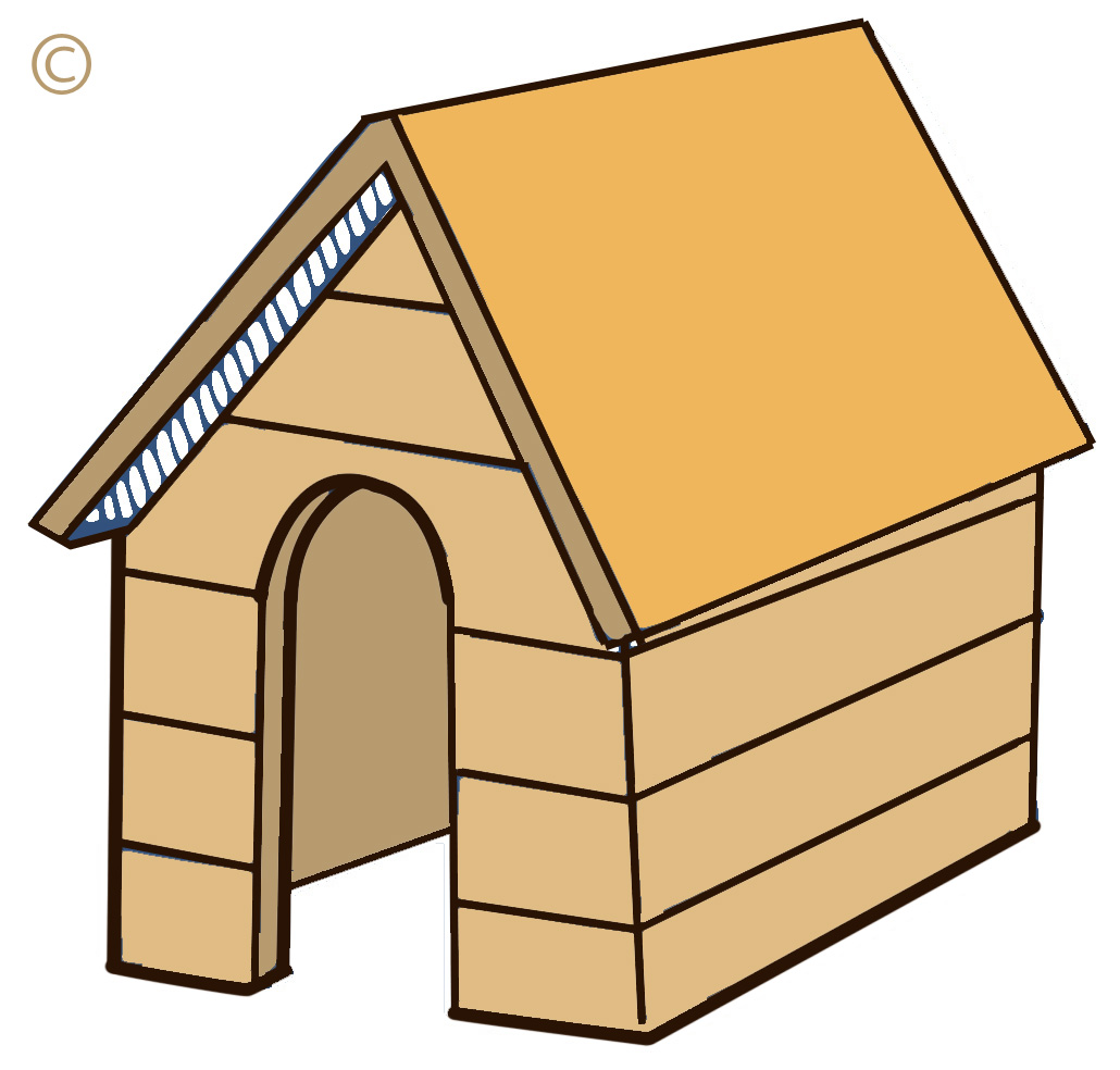 clipart of dog houses - photo #8