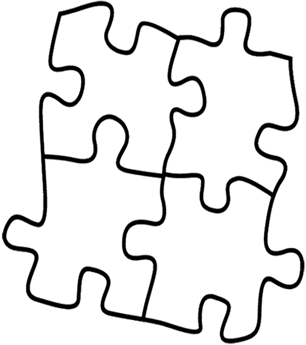 puzzle piece outline coloring pages - photo#7
