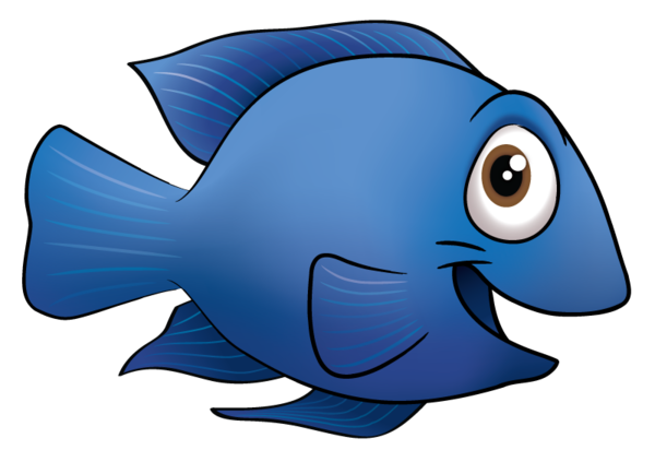 Blue Fish Cartoon - ClipArt Best