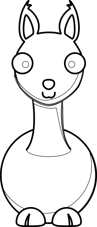 Line Art Inkscape : Cartoon llama black white line art svg inkscape adobe