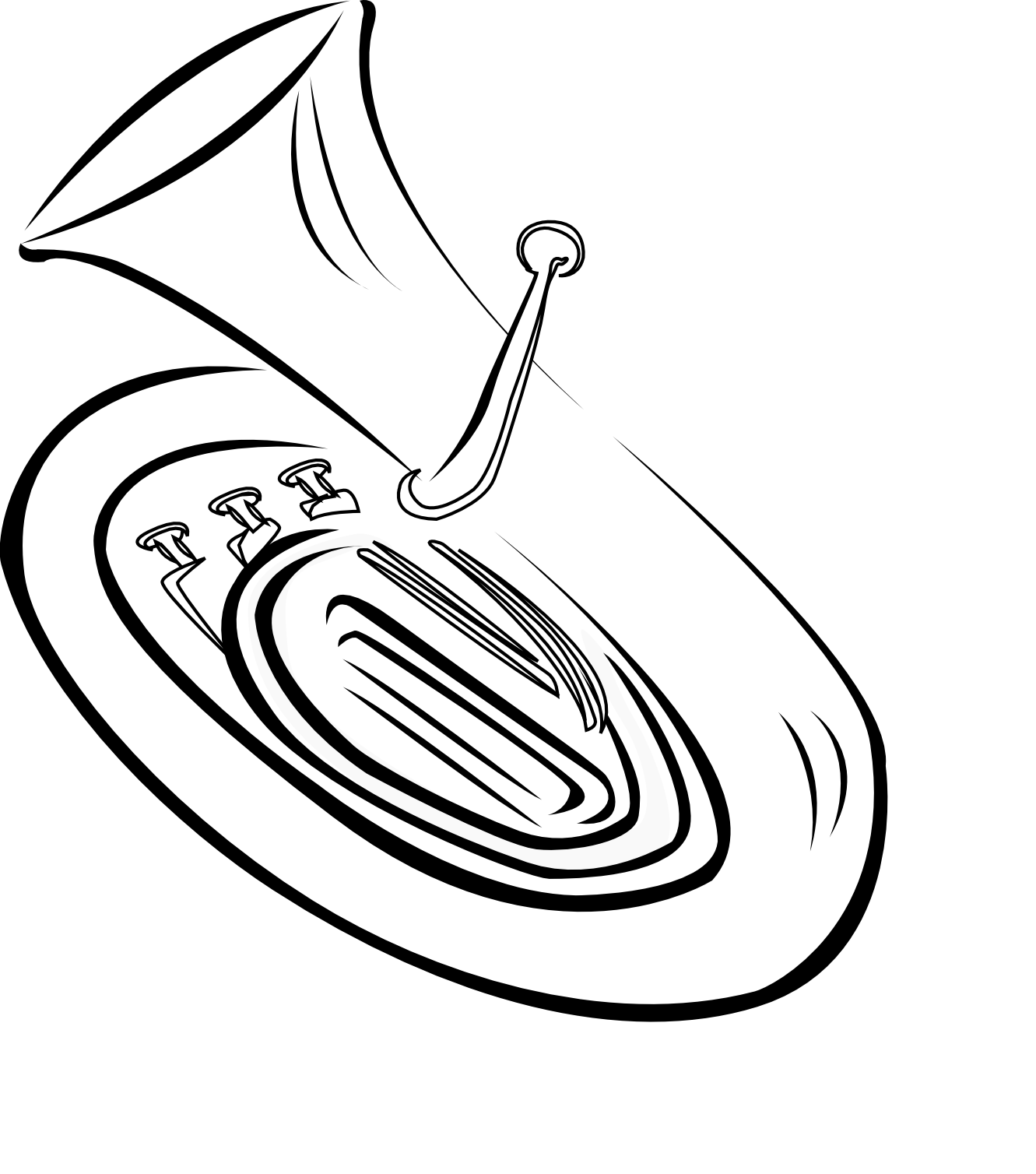 Displaying Images For - French Horn Clipart Black And White   French Horn Clipart