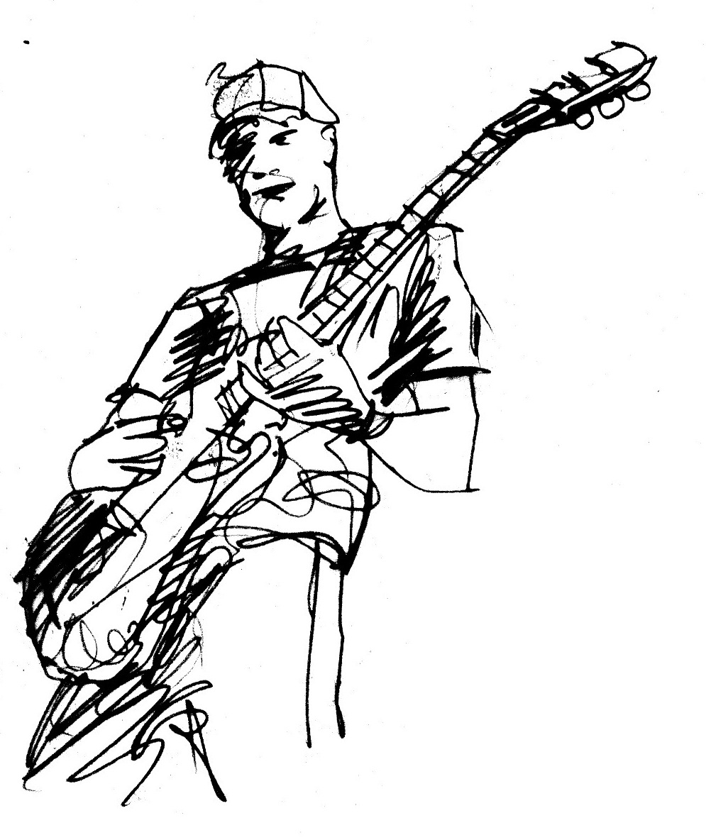 Guitar Player Drawings - ClipArt Best