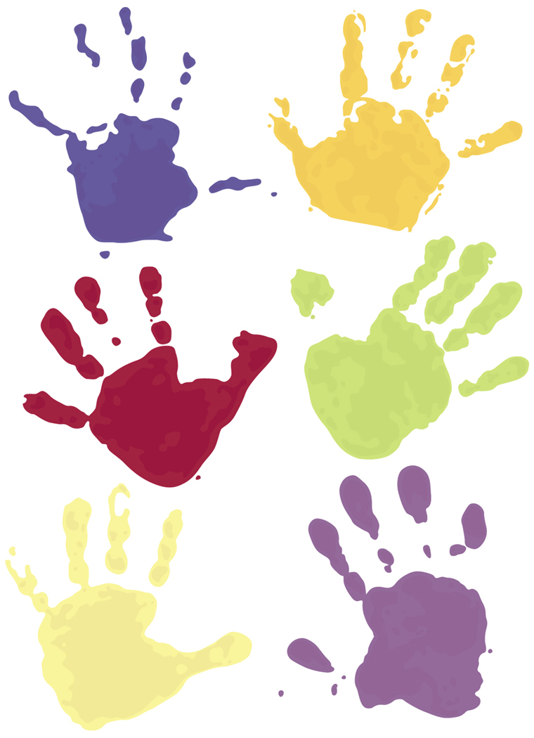 images of handprints clipart best