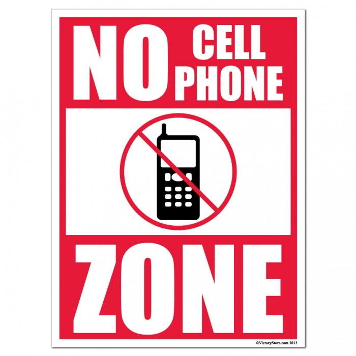 Funny no cell phone policy