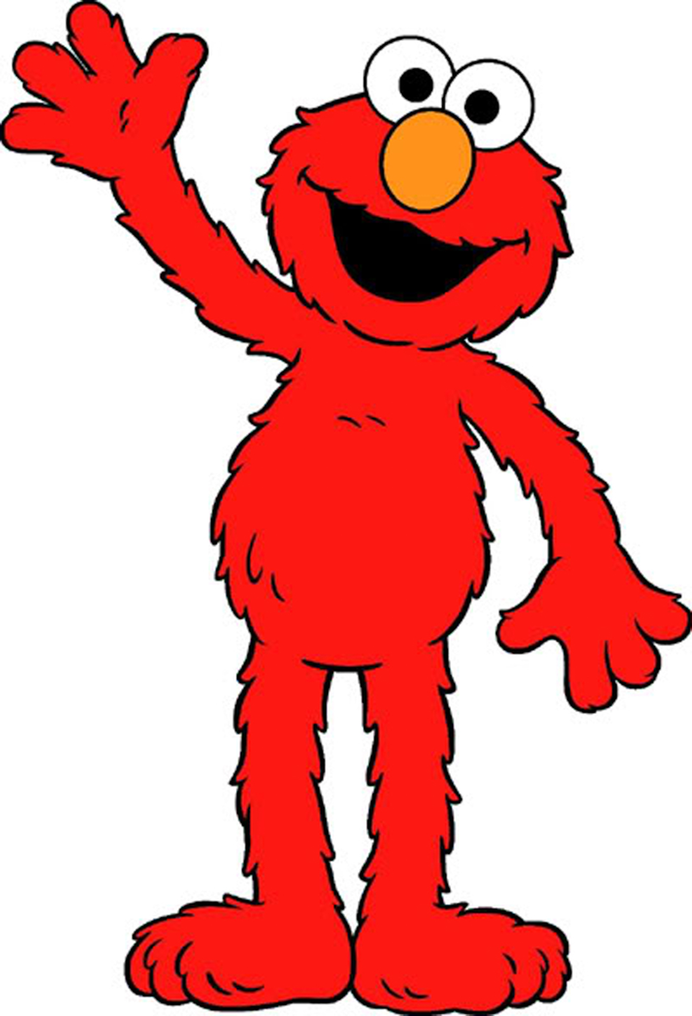 Happy Elmo coloring page | Free Printable Coloring Pages | 2000x1363
