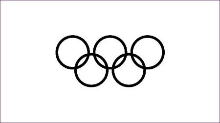olympic rings clip art black line clipart best