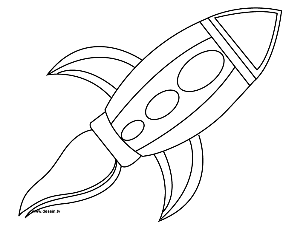 Rocket Template To Color