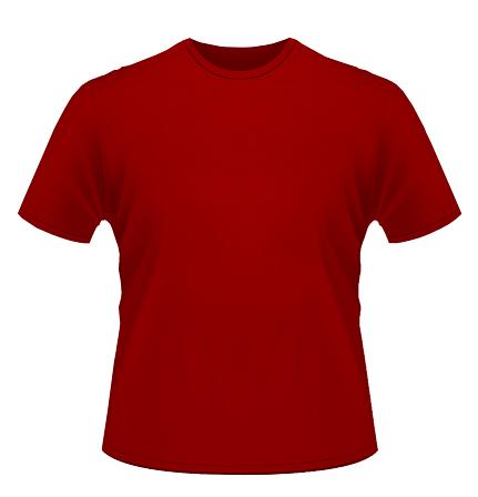 Kaos Polos Merah - ClipArt Best