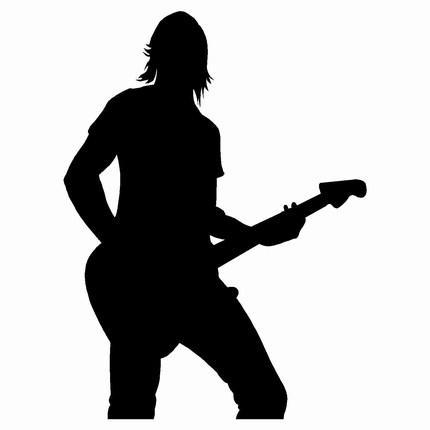 Similiar Guitar Player Silhouette Keywords