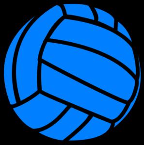 Blue Volleyball Clip Art Vector Clip Art Online Royalty