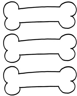 Best Photos of Dog Bone Outlines Printable - Free ...