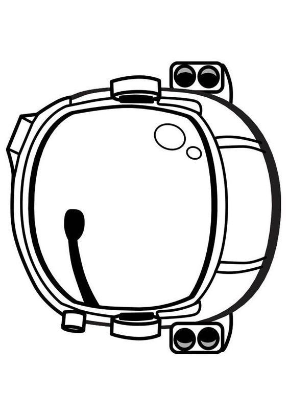 dltk astronaut helmet coloring pages - photo#2