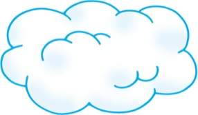Cloud with Blue Outline - Scholastic Printables