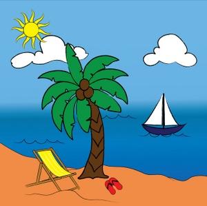 Beach Scene Clip Art - ClipArt Best
