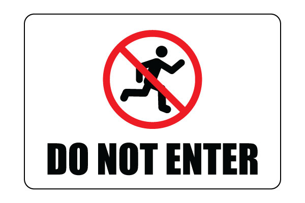 Genius image inside do not enter sign printable