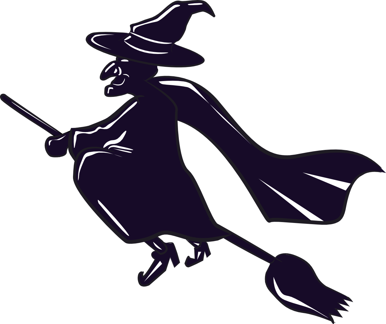 Witch On Broomstick Pics - ClipArt Best