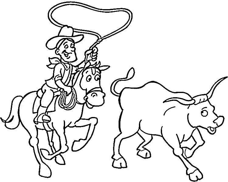cowboy coloring pages 8 purple kitty clipart best