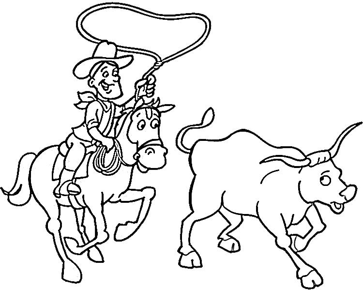 Cowboy Coloring Pages 8