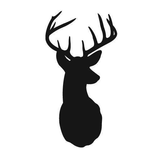 Deer Head Silhouette Vector - ClipArt Best