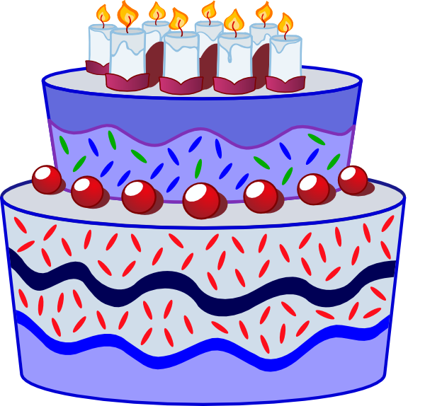 Birthday Cake Clip Art Vector : Birthday Cake clip art - vector clip art online, royalty ...