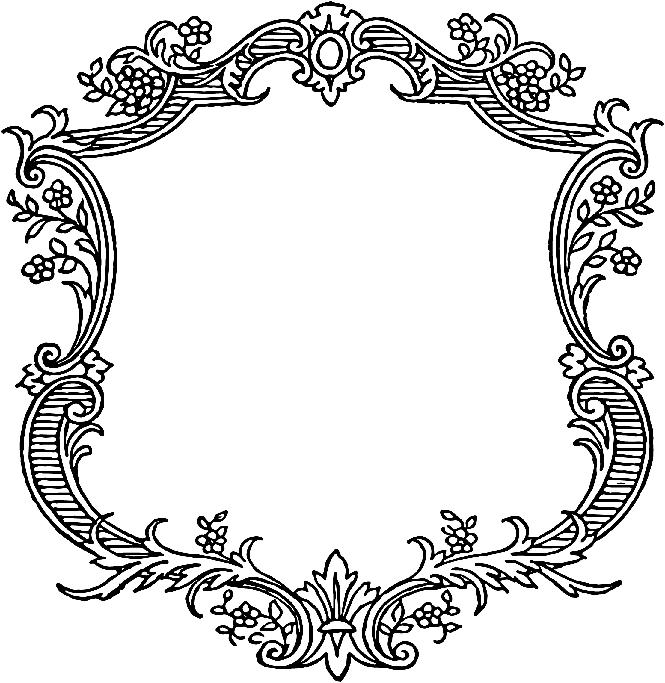 Free Vintage Floral Scroll Border Frame | Oh So Nifty Vintage Graphics