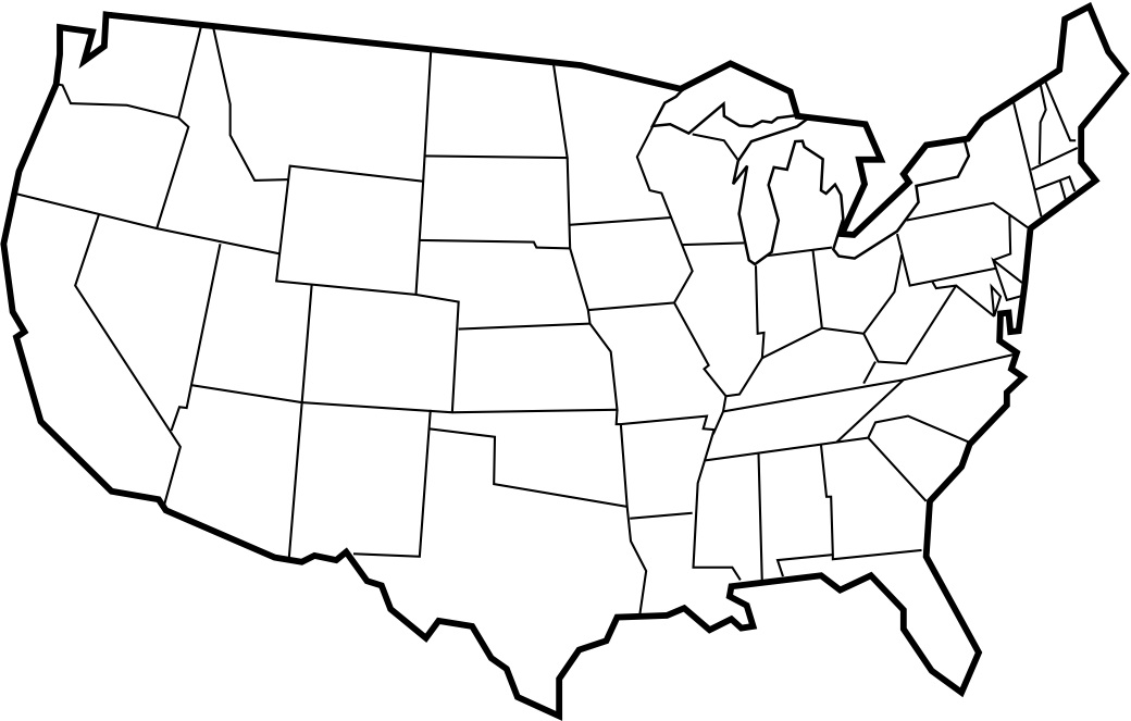 Picture of: Printable Us Blank Map Clipart Best