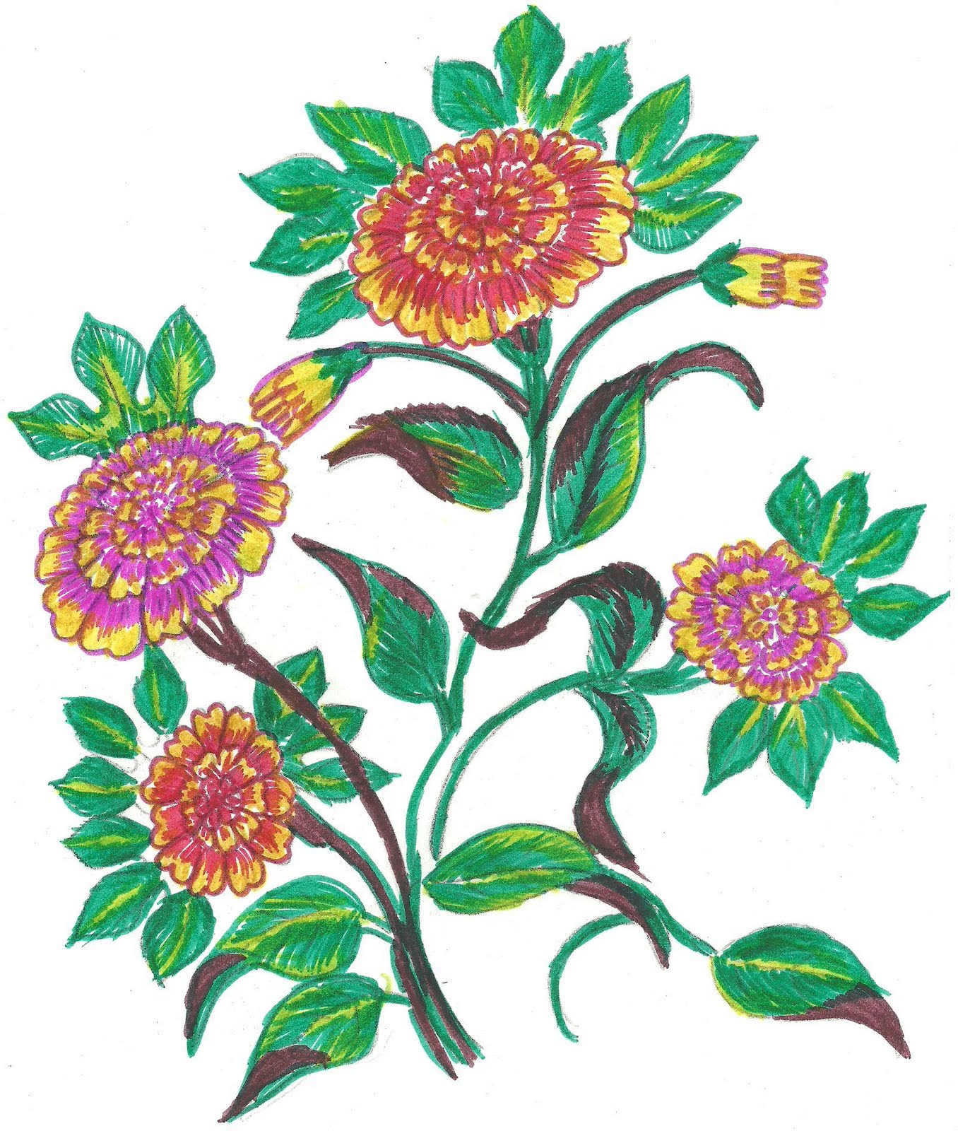Fabric Painting Floral Designs Fabric Paint Designs