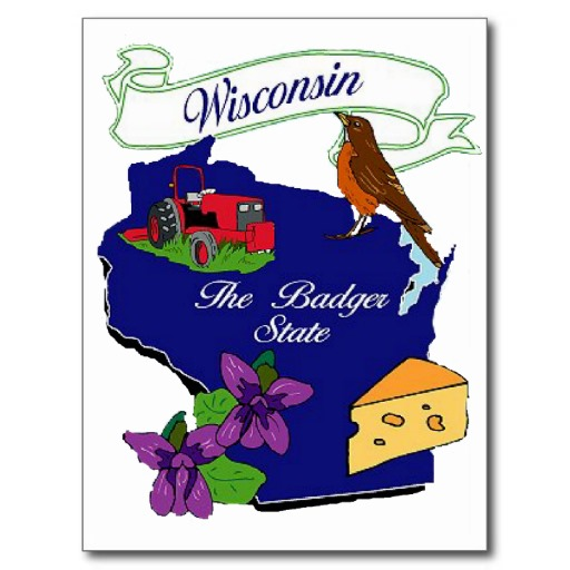 State Of Wisconsin T-Shirts, State Of Wisconsin Gifts, Art ...