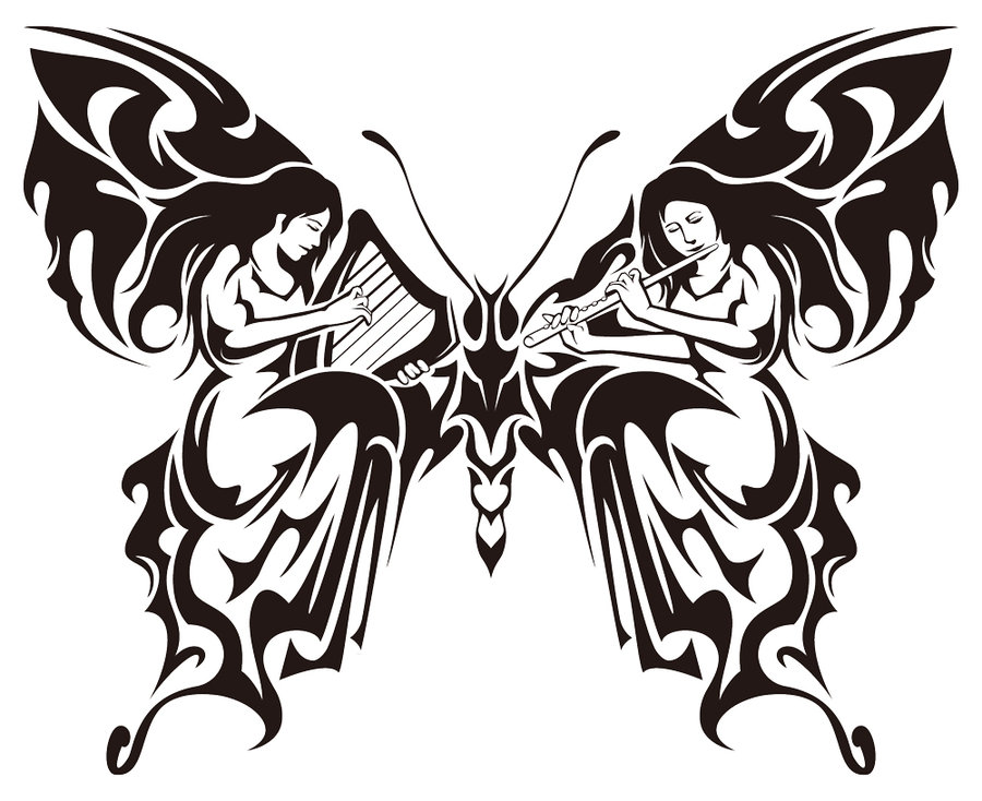 free coloring pages of tribal butterflies. Black Bedroom Furniture Sets. Home Design Ideas