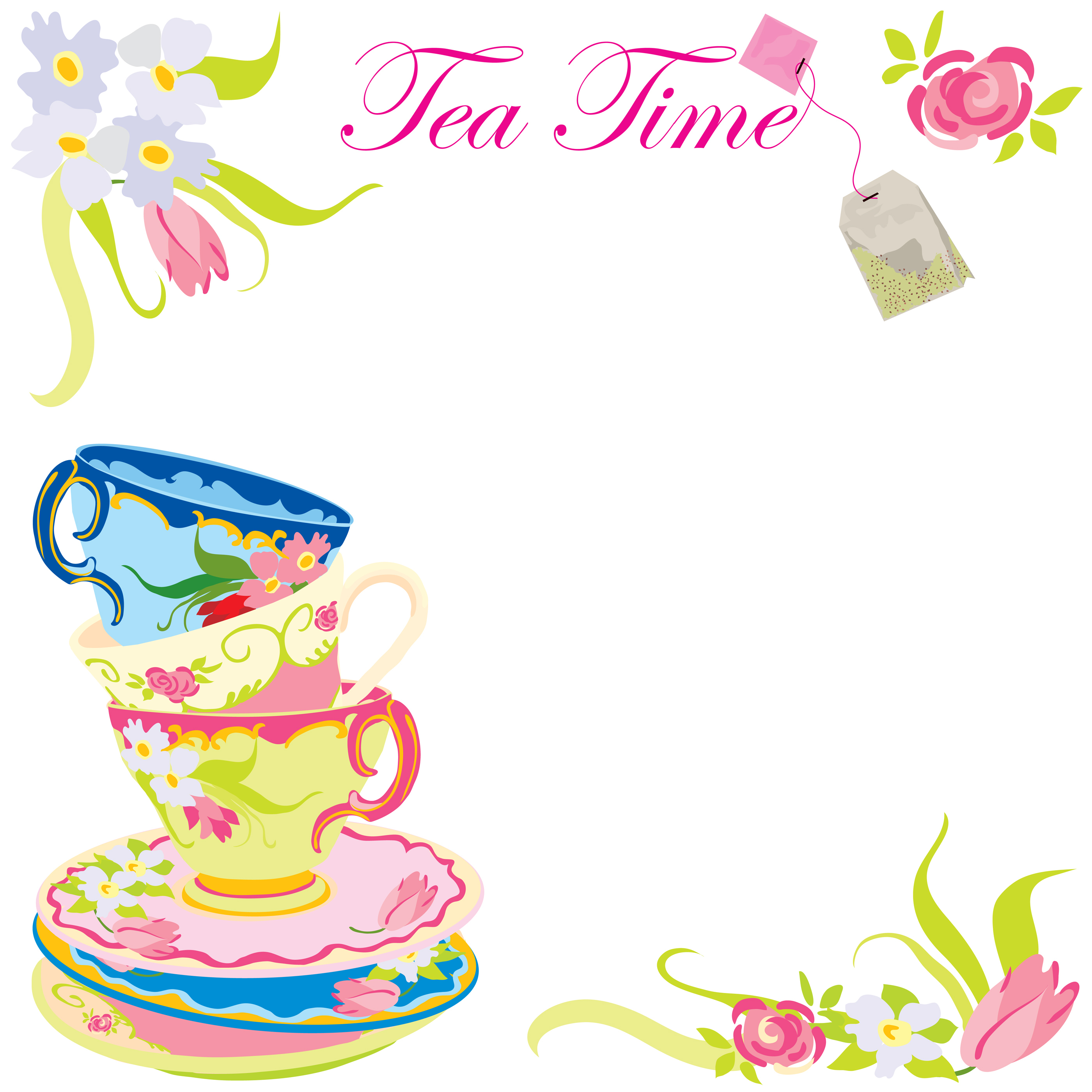 Free Printable Tea Party Invitations Slumber Party ...