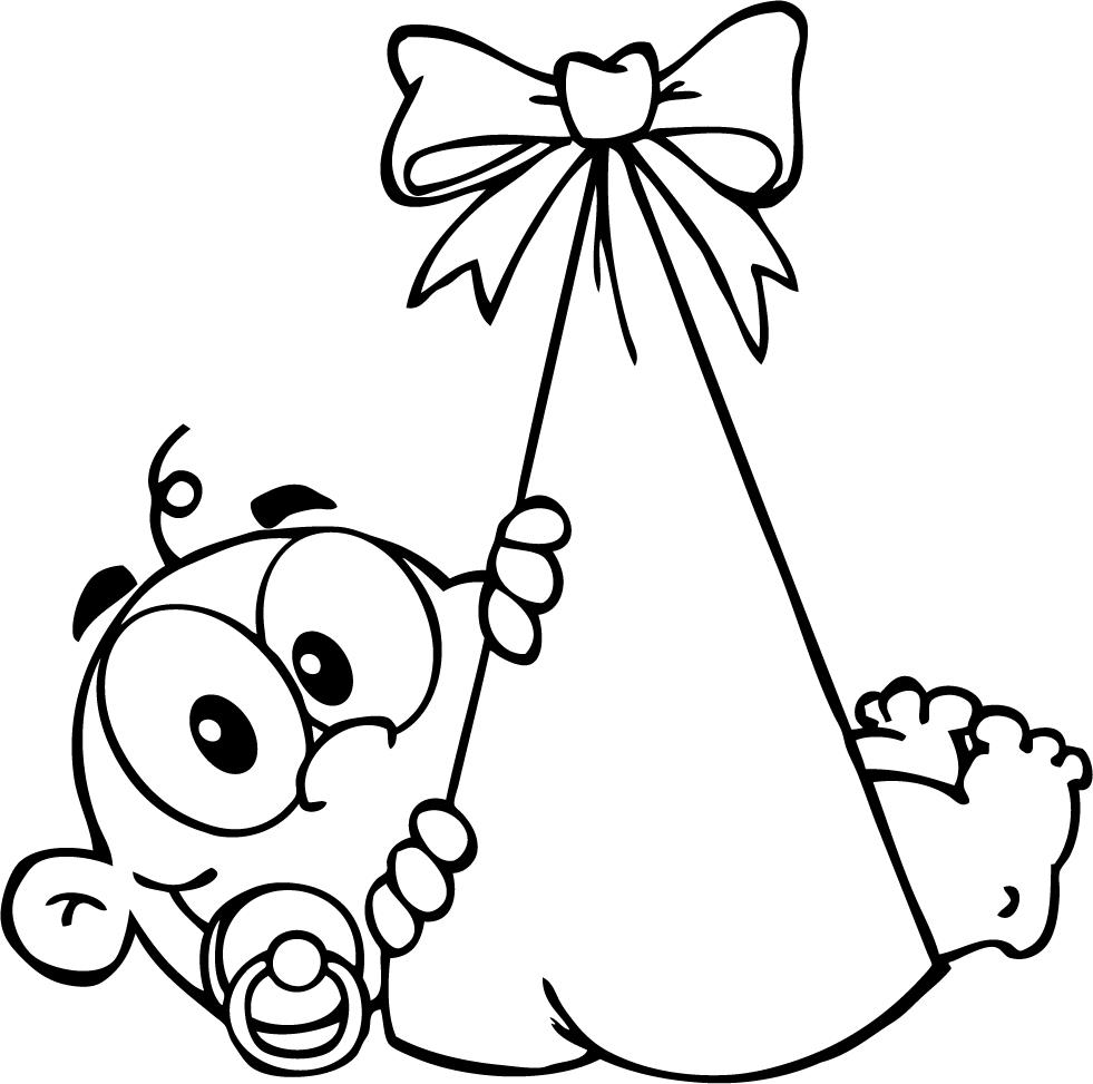 free newborn baby coloring pages - photo#31