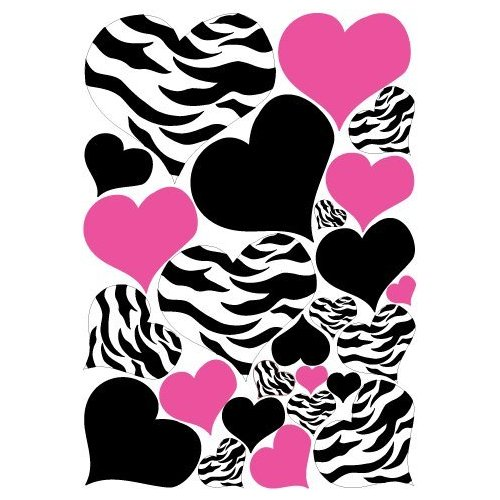 Hot pink zebra print wallpaper clipart best for Hot pink and black wall decor